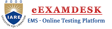eExamDesk - Online Testing Platform - IARE